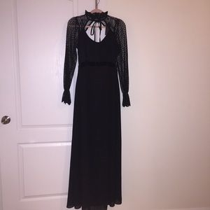 Black floor length maternity gown